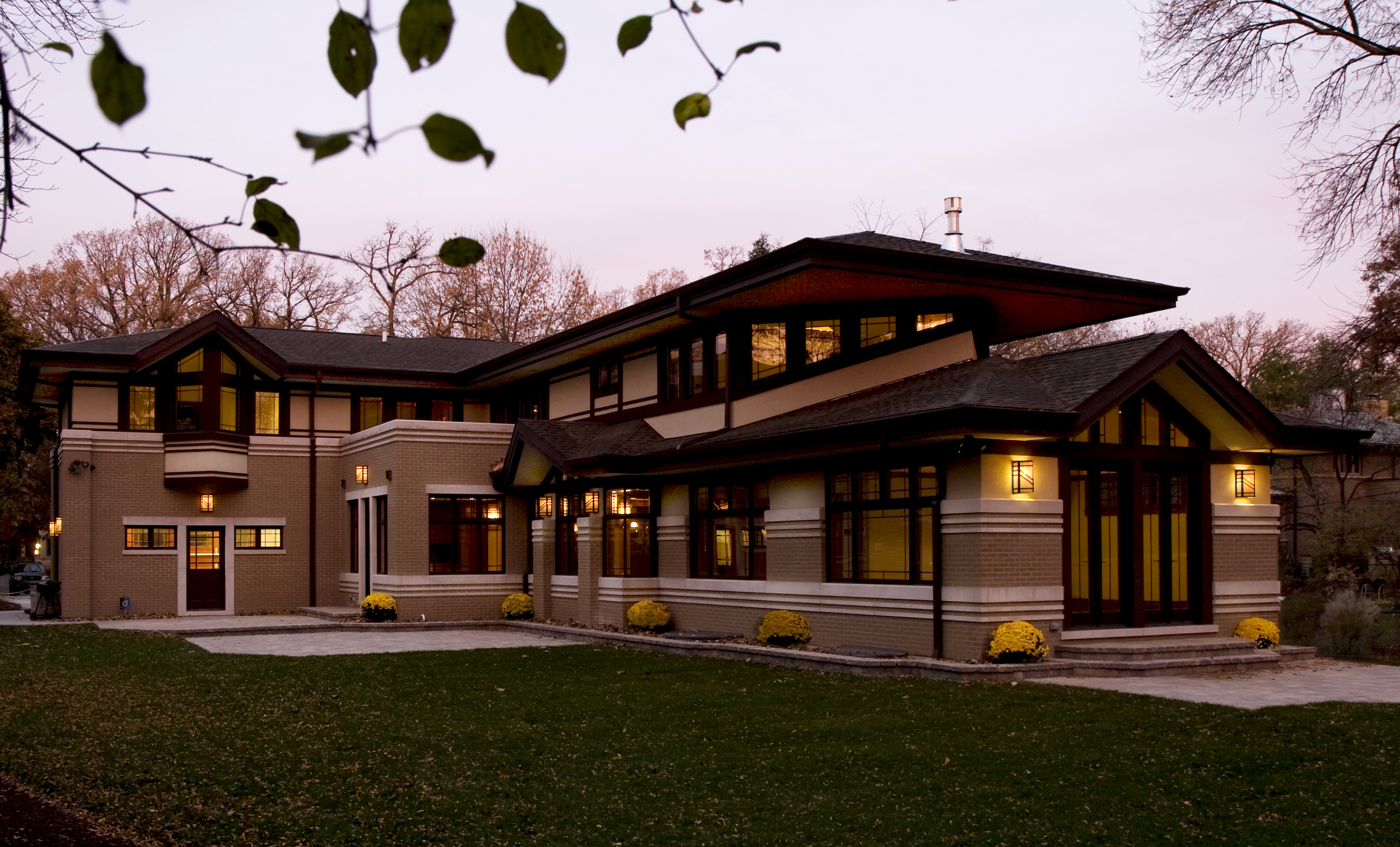 marvelous frank lloyd wright type house plans #1: Prairie Inspired Design by West Studio Architects. Craftsman Prairie Style  House ...