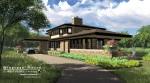 Prairie Style, Frank Lloyd Wright Inspired, West Studio Architects, Stephen Jaskowiak, Organic