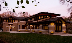 Prairie Style Home, West Studio, Frank Lloyd Wright Inspired, Stephen Jaskowiak