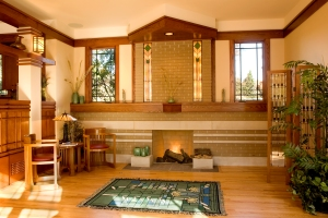Prairie Style Fireplace, Frank Lloyd Wright, West Studio, Stephen Jaskowiak