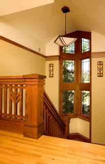 Prairie Style Stair, West Studio,