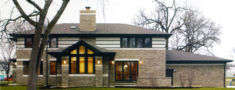 Farnk Lloyd Wright Inspired, Prairie Style House