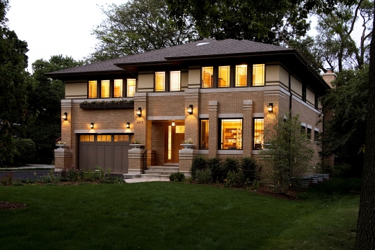 New Prairie Style House, West Studio, Frank Lloyd Wright Inspired