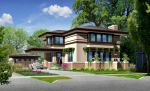 New Prairie Style Home, Frank Lloyd Wright Inspired, West Studio, 465 Mitchell Elmhurst IL