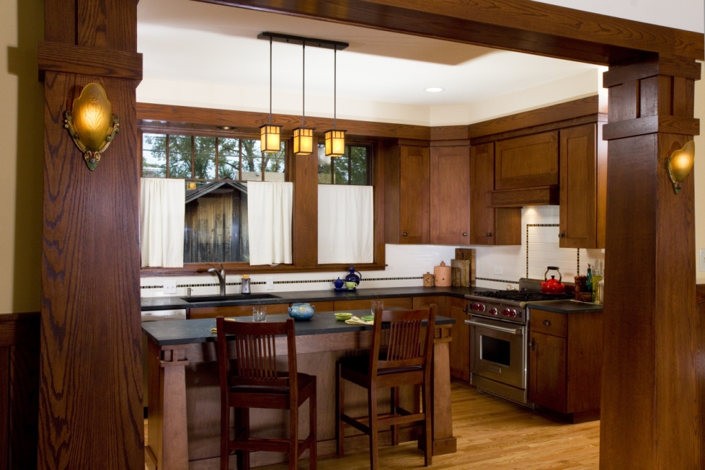 New Craftsman Bungalow Kitchen | PrairieArchitect