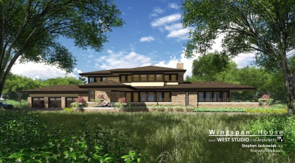 Prairie Style Home, Frank Lloyd Wright Inspired, West Studio Architects, Stephen Jaskowiak