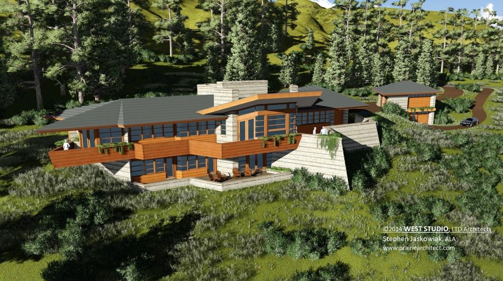 West Studio Architects, Organic Home, Frank Lloyd Wright Inspired