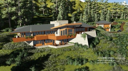 West Studio Architects, Organic Home, Frank Lloyd Wright Inspired
