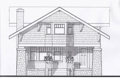 New Craftsman Bungalow, New Arts & Crafts Style Bungalow, Bungalow Architect