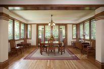 Prairie Style Dining Room, West Studio Architects, frank Lloyd Wright Inspired