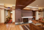 Frank Lloyd Wright Inspired, West Studio Architects, Prairie Style, Fireplace