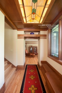 Prairie Style, Art Glass, West Studio Architects, frank Lloyd Wright Inspired