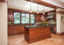 Prairie Style Kitchen, West Studio Architects, Frank Lloyd Wright Inspired