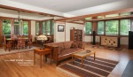 Prairie Style Living Room, Frank Lloyd Wright Inspired, West Studio Architects