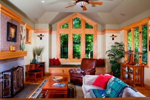 Prairie Style Home, West Studio, Frank Lloyd Wright Inspired