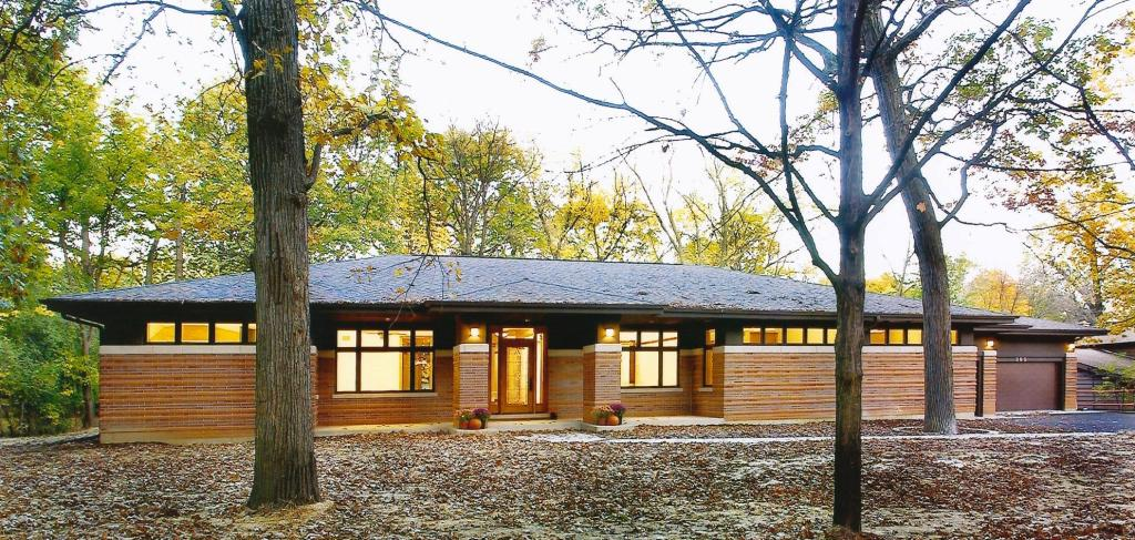 Frank lloyd wright inspired ranch house prairiearchitect for Prairie home plans frank lloyd wright