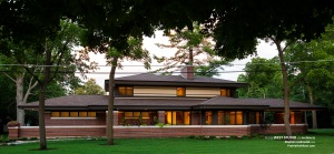 Frank Lloyd Wright Inspired, Modern Prairie Style, West Studio,