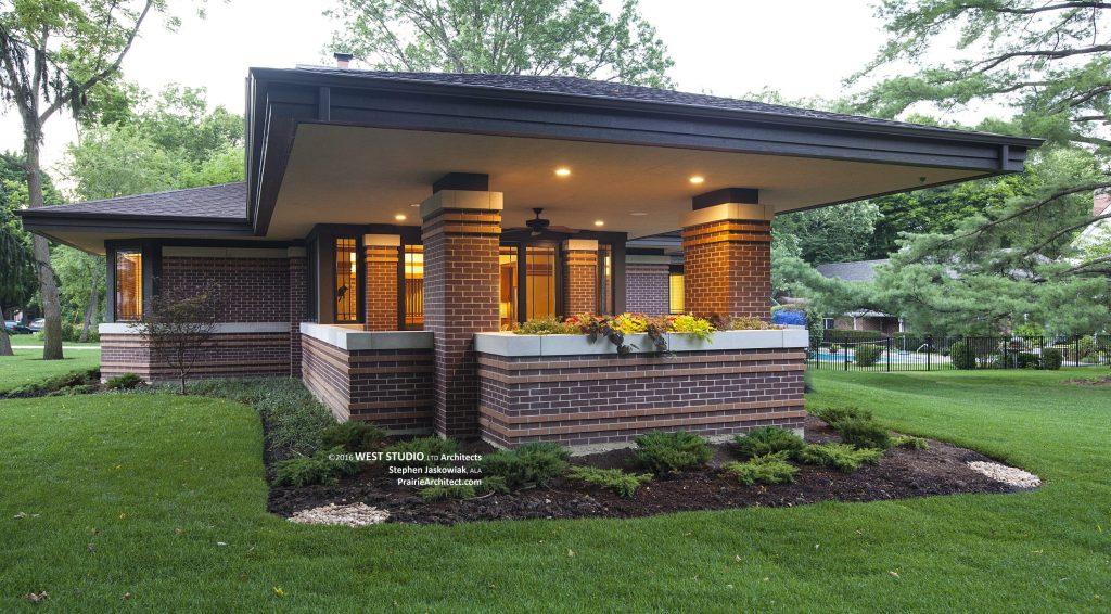 Frank Lloyd Wright Inspired, Prairie Style Home, Stephen Jaskowiak