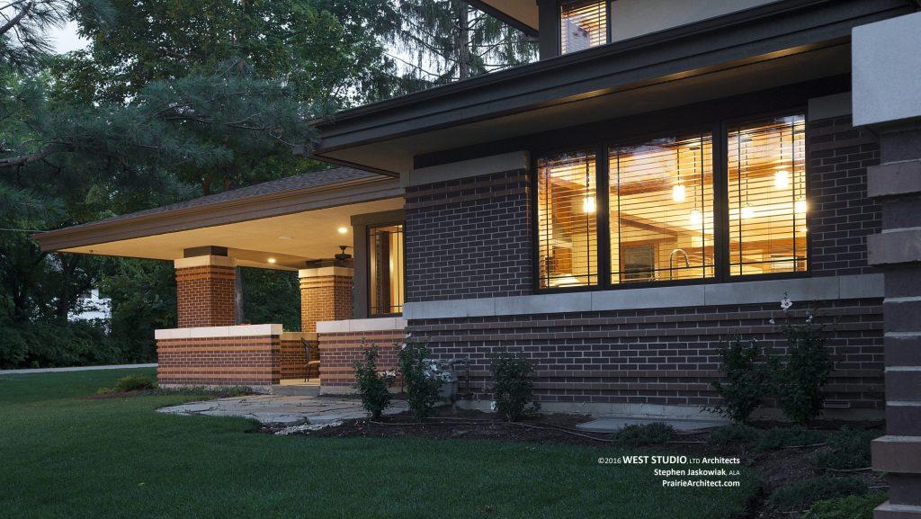 frank lloyd wright outdoor lighting. Harmonic Winds House \u2013 West Exterior. Frank Lloyd Wright Outdoor Lighting