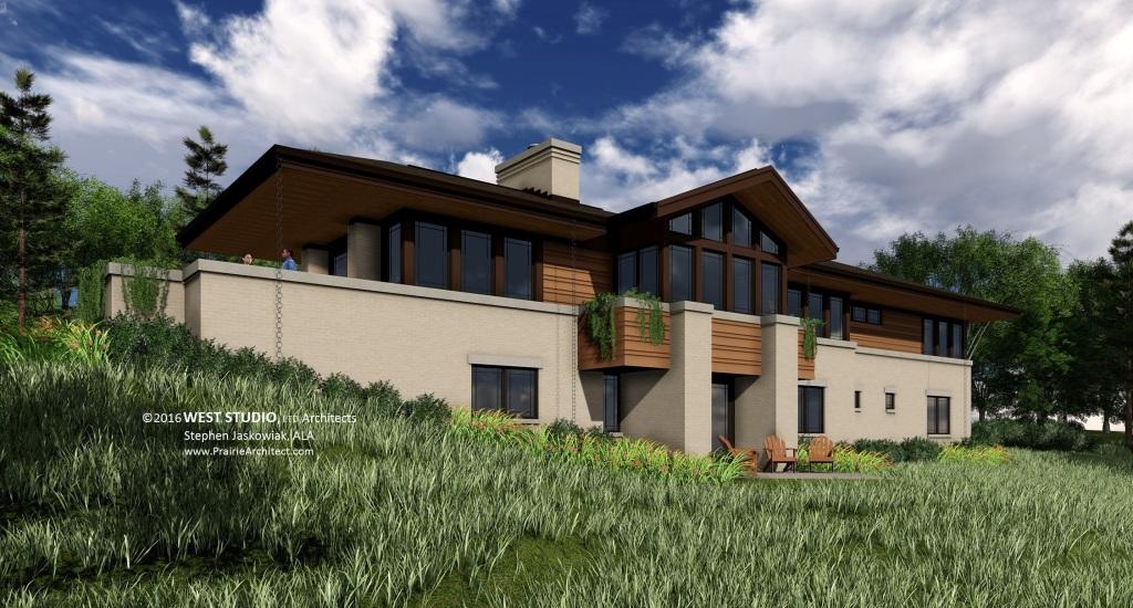 Prairie Style, Frank Lloyd Wright Inspired, West Studio Architects