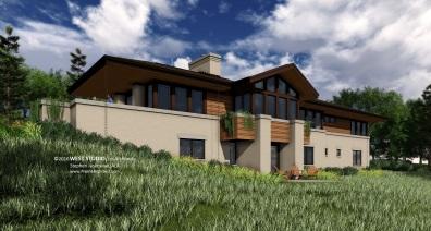 Prairie Style, Frank Lloyd Wright Inspired, West Studio Architectc