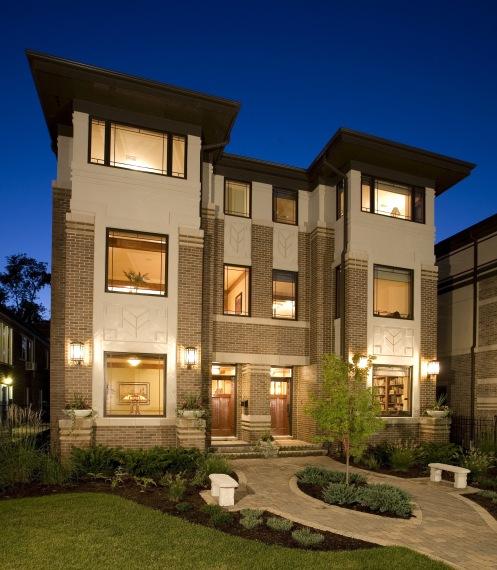 West Studio Architects, Prairie Style, Frank Lloyd Wright Inspired