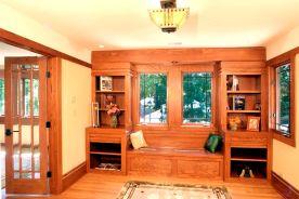 Prairie Style Window Seat, West Studio Architects