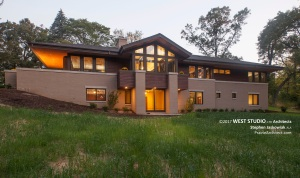 Modern Prairie, Frank Lloyd Wright Inspired, Walk Out Ranch, West Studio Architects