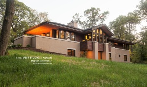 Prairie Style House, Walk Out Ranch, Frank Lloyd Wright Inspired, West Studio Architects