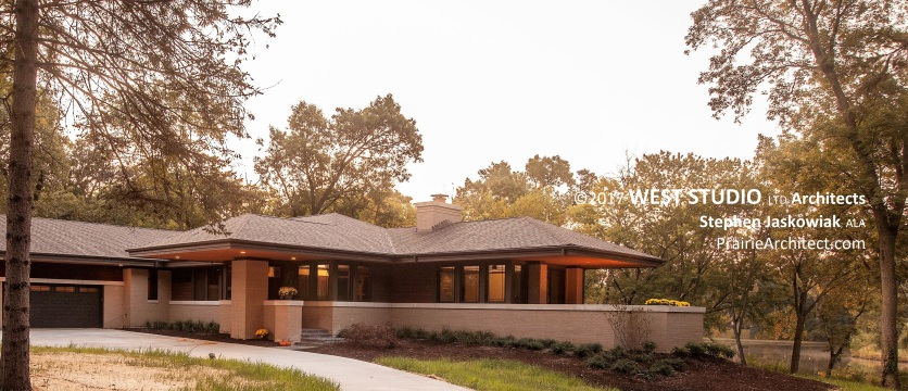 Modern Prairie Style, Organic Architecture, Frank Lloyd Wright inspired, Prairie Style, West Studio Architects