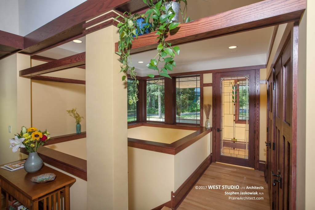 Frank Lloyd Wright Inspired, Modern Prairie Style, West Studio Architects