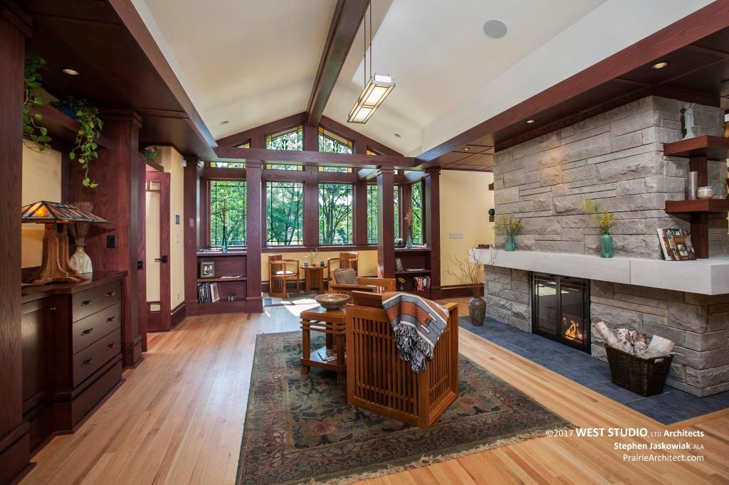 Modern Prairie Style, Frank Lloyd Wright Inspired, West Studio Architects, Stephen Jaskowiak
