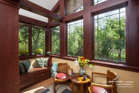 Prairie Style, Frank Lloyd Wright Inspired, Window Seat, West Studio Architects