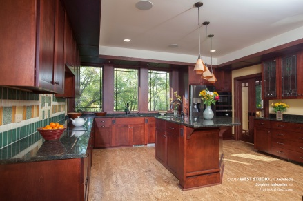 Prairie Style, Frank Lloyd Wright Inspired, Kitchen, West Studio Architects