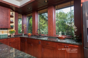 Prairie Style, Kitchen, Frank Lloyd Wright Inspired, West Studio Architects, Stephen Jaskowiak
