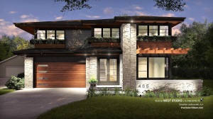 Contemporary, Prairie Style, Frank Lloyd Wright Inspired, New Home Design, West Studio Architects