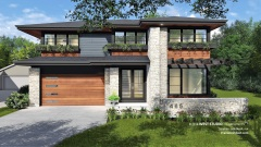 Modern Prairie-style, Frank lloyd Wright Inspired, West Studio Architects