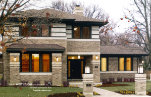 New Prairie Style Home, Frank Lloyd Wright Inspired, WEST STUDIO Architects, Stephen Jaskowiak