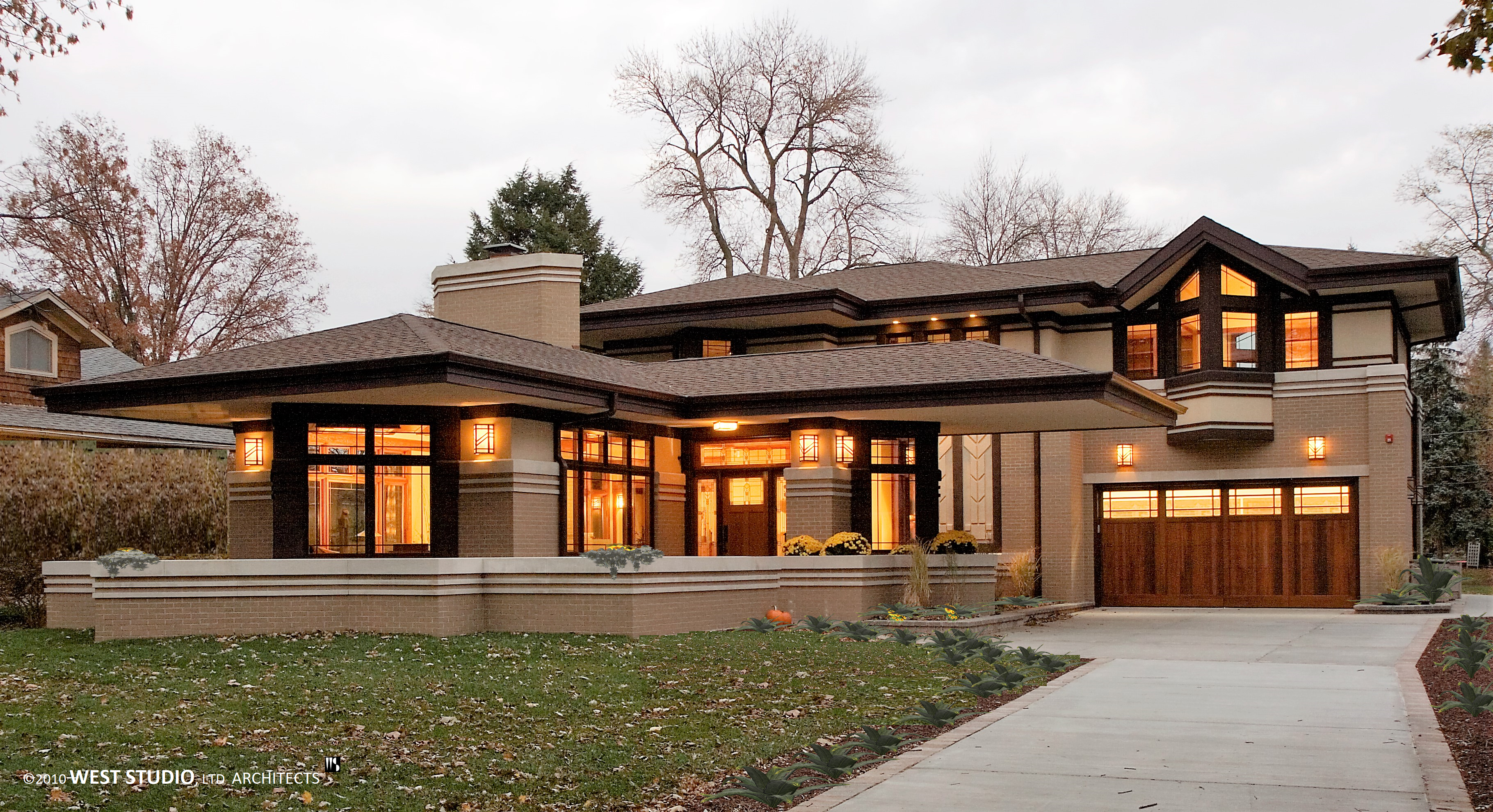 River forest residence prairie architect west studio - Frank lloyd wright style ...