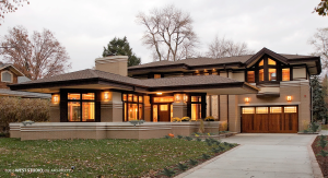 Frank Lloyd Wright Inspired, Prairie Style, WEST STUDIO Architects, Stephen Jaskowiak